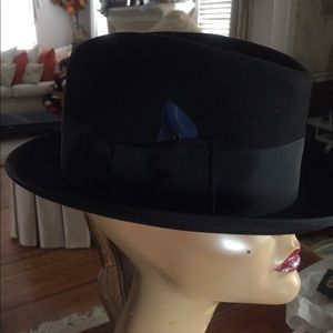 Men's Fedora. Like new  blk wool FRANK SINATRA ❤️